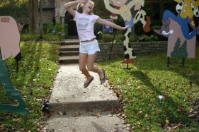 Nancy-Jane jumping for joy~